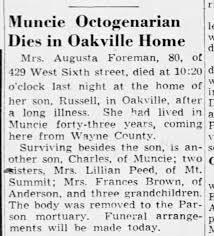Augusta Foreman obituary - Newspapers.com