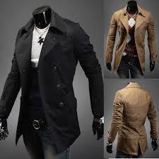 men s turn down collar wind coat korean slim double ted mwf avery for men