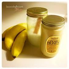 banana honey coconut oil hair mask