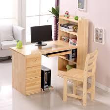 solid pine wood computer desk