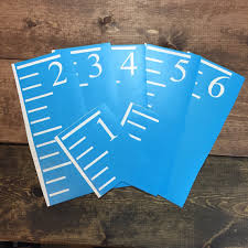 Reusable Growth Chart Ruler Stencils For Diy Crafts