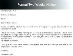 two weeks resignation letter week notice templates free word doents creative template 1 formal 2 two weeks resignation letter awesome writing a week 2