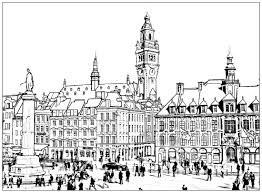 Architecture And Living Coloring Pages For Adults Justcolor