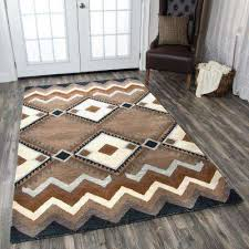area tumble weed loft brown southwestern hand tufted wool 8 ft x 10 ft area