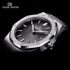 popular sapphire crystal stainless steel mens watches buy cheap didun mens watches top brand luxury quartz watches men business dress stainless steel wristwatch luminous 30m