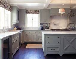 green gray kitchen cabinets