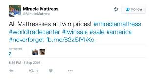 miracle mattress. Delighful Mattress A Screenshot Of The Tweet Linking To Nowdeleted 911 Sale Ad For Miracle Mattress U