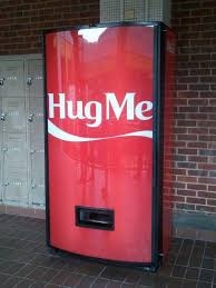 Coca Cola Vending Machine Singapore Enchanting ColaCola Hug Machine And Recycle Happiness Machine RobAid