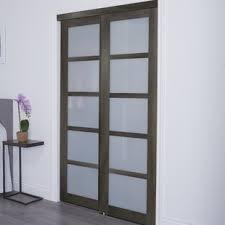 sliding closet doors for bedrooms. Baldarassario 5 Lite 2 Panel MDF Sliding Interior Door Closet Doors For Bedrooms S