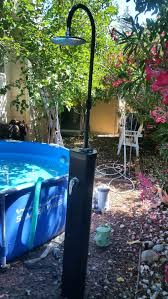 solar heated outdoor shower solar self heating outdoor shower with cold and hot water home garden in ca outdoor shower solar heated water sunny solar heated
