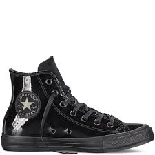 converse chuck taylor all star patent leather shoes uni black 4172 8741