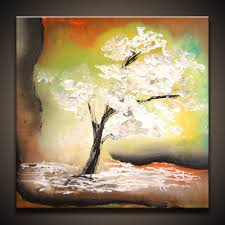 Simple Painting White Tree How To Paint A Tree Simple Abstract Art Painting