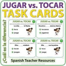 Jugar Verb Chart Verbs Woodward Spanish