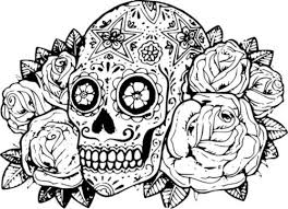 Small Picture Skull Coloring Page Sheet Skulls Pages And On Pinterest