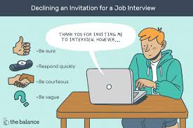 Rejecting A Job Offer After Accepting It How To Decline A Job Interview With A Letter Sample