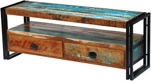Unfade Memory <b>Vintage</b>-<b>Style</b> TV Cabinet Fully Handmade <b>Solid</b> ...