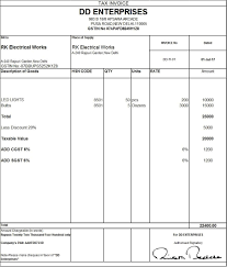Tax Invoice Examples Download Excel Format Of Tax Invoice In Gst Gst Invoice Format