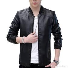 winter men s retro vintage casual classic pu faux leather slim thin jacket fit biker motorcycle jacket coat outwear black tops l 4xl jackets leather denim