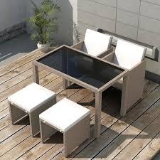 Jeu de mobilier d'extérieur 11 pcs Ensemble table chaise faute de ...