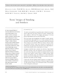 PDF) Teens' images of smoking and smokers