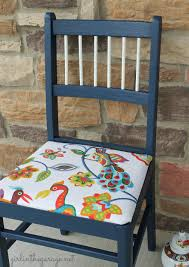 Colorful Bird Chair Makeover   Girl in the Garage®
