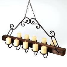 rustic candle chandeliers