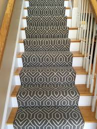 this stair runner was fabricated and installed by the carpet workroom