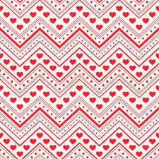 Red Heart Patterns Classy Seamless Pattern Red Hearts And Lines On Light Background Stock