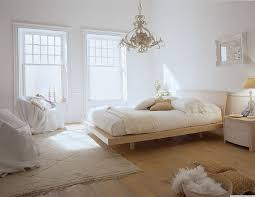 Teen Bedroom Decor In Simple White Theme With White Bed Sets And White Wall  And ...