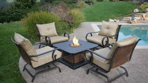 romantic patio furniture fire pit on set with outdoor table modern