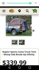 Napier truck tent camo fits 5'8