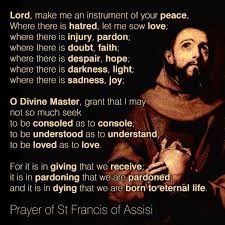 St Francis Quotes Unique The Peace Prayer Of St Francis Of Assisi Compass Quill