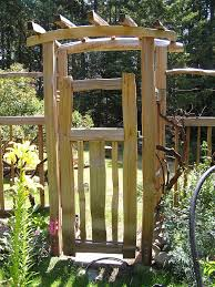 garden arbor with gate cedar sustainable woodwork pertaining to build arbor with gate 8085
