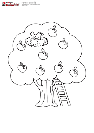 Small Picture Apple tree with birds nest coloring pages Pinterest Apple