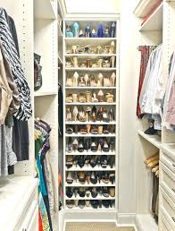astounding shoe shelves for closet built in shoe rack design closet traditional with woven carpeting natural