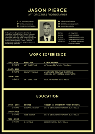 Free Resume Templates 2016 Free Black Elegant Resume CV Design Template For Art Director 19