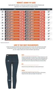 Womens Jeans Sizing Chart Womens Size Guide Boulder Denim