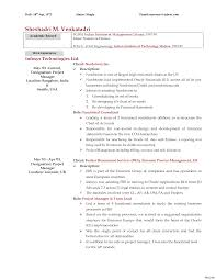 Sample Resume Of Infosys Employee Sample Mckinsey Resume Allowed Concept 24 Consulting Cover Letter 8