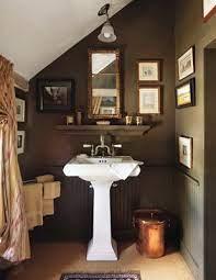 Stylish Brown Bathroom Beautiful Bathrooms Dark Brown Walls