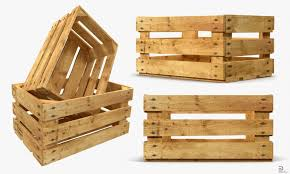 wooden fruit crate royalty free 3d model preview no 2