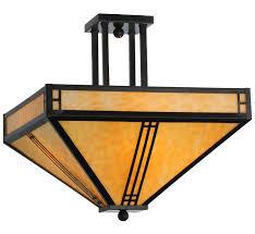 meyda 143407 prairie loft 18 sq semi flush mount ceiling fixture