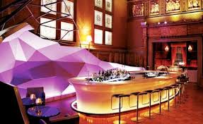 the bar in lights decorate restaurant interior design