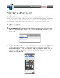 Online Menu Creator Sharing Video Online 1 Roxio Creator