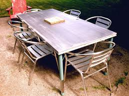 Stainless Steel Outdoor Dining Table Modern Furniture Modern White Outdoor Furniture Medium Brick
