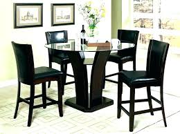 black pub table set dining and chairs round bar height outdoor 4 w