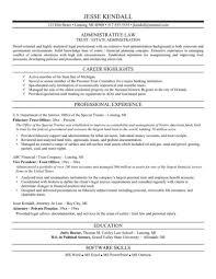law resume samples
