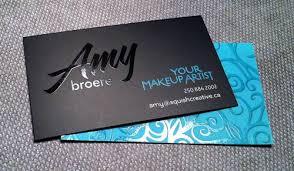 be tasteful when adding foil elements on your design makeup artist business cards