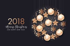 2018 New Year With Christmas Creative Design Vector 01 Free Download