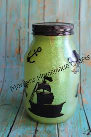 Large Battery Powered Led Pirate Themed Light Jar