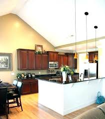 kitchen lighting vaulted ceiling vaulted ceiling kitchen lighting ceilings kitchen island lighting sloped ceiling